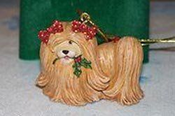 Russ Wags to Whiskers Dog Christmas Ornament Shih Tzu by Russ Berrie,