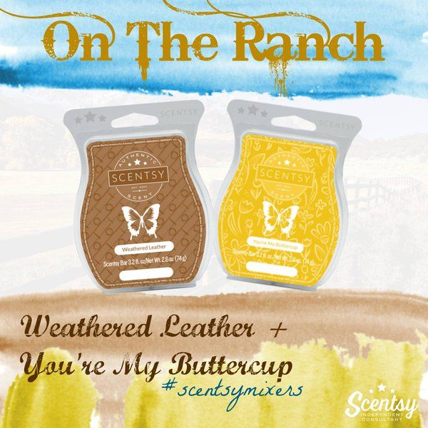 Weathered Leather + You're My Buttercup love this #ScentsyMixer! https://nickiegill.scentsy.us