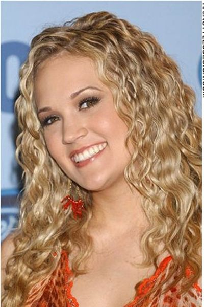 Perm like curls Carrie Underwood..