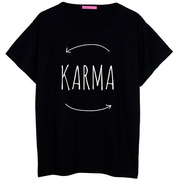 karma oversized t shirt boyfriend womens ladies girl fun tee top 22
