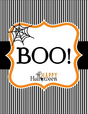 Free Halloween BOO Stationary printables.  If you like to Boo your neighbors, you will dig this.  We grabbed this from Anders Ruff.