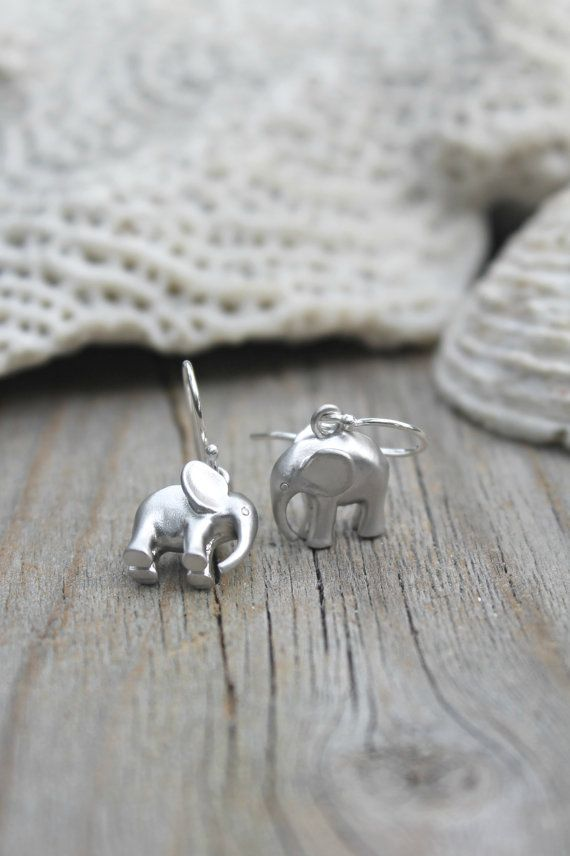 Adorable Pair of lucky elephant earrings on 925 sterling silver French ear wires. Perfect for a little girl or anyone whos looking for extra good