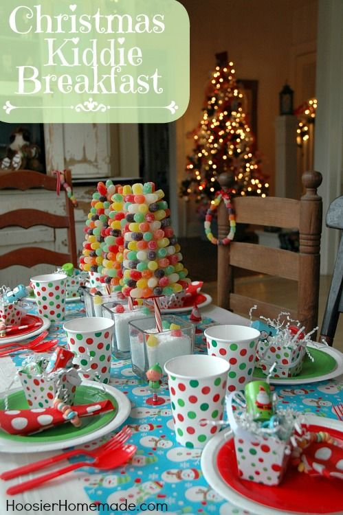 Christmas Kiddie Breakfast with Gumdrop Trees :: Instructions on HoosierHomemade.com