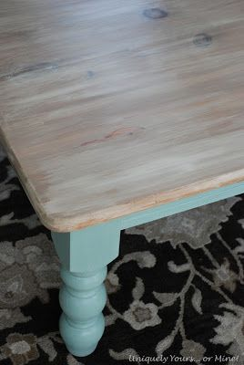 Kitchen table - resalvage an old harvest table (or the one we have in our basement!!) and white wash the top using Chalk paint!