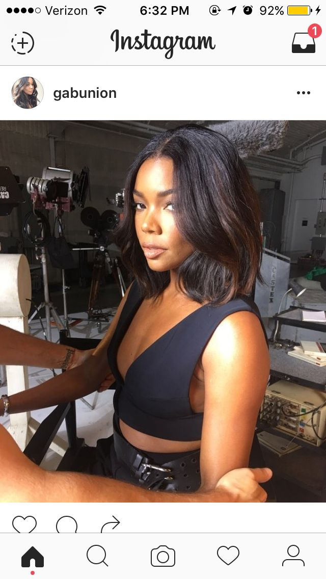 *Gabrielle Union - Middle Part Bob #PromHairstylesStraight