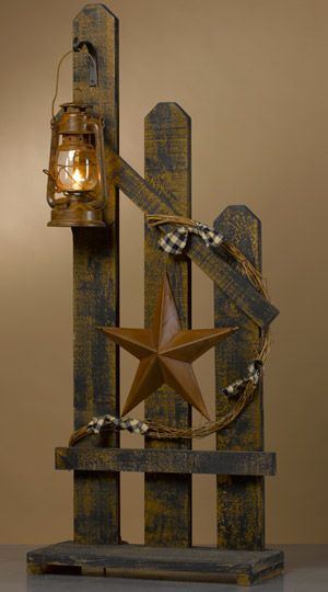 PICKET FENCE with STAR and LANTERN