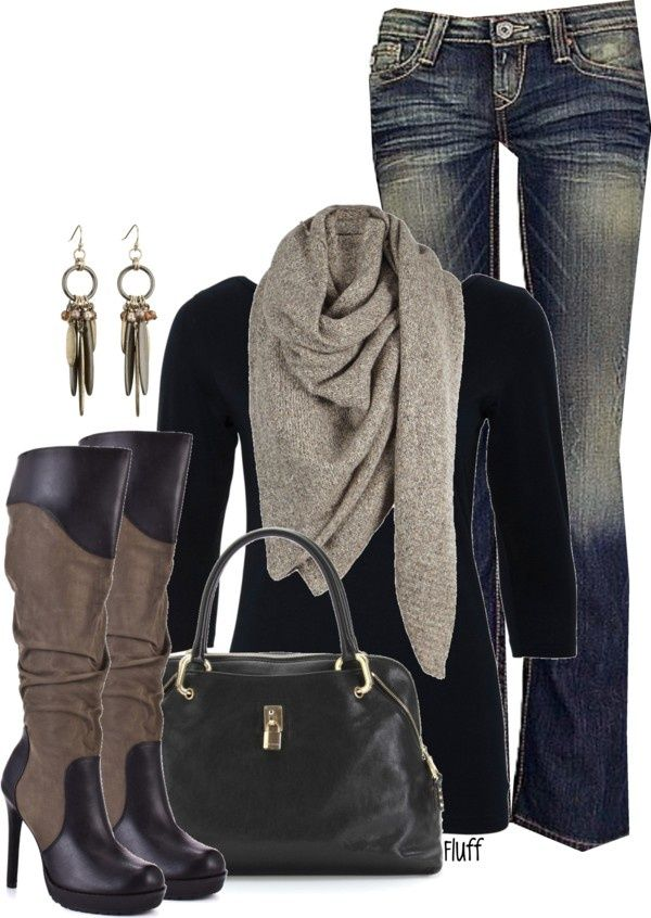 LOVE! Ready for the holidays!Casual Outfit, Style, Clothing, Jeans, Fall Looks, Winter Outfit, Fall Fashion, Fall Outfit, Boots
