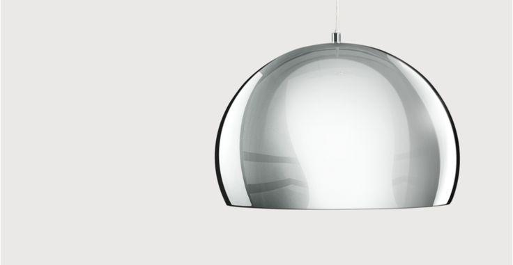 Boule Pendant, Chrome & Gloss White   made.com