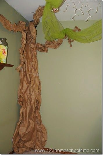 butcher paper tinker bell tree pixie hollow decorations