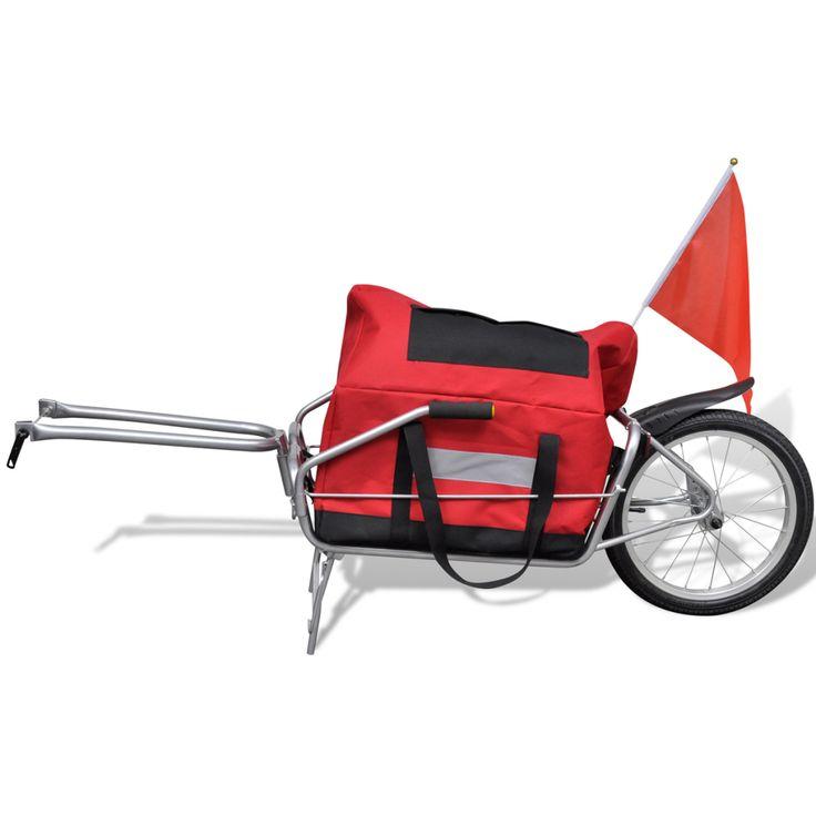 Remorque vélo mono roue avec sac