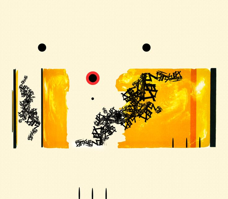 Bear eating honey - abstract or not so abstract artwork.