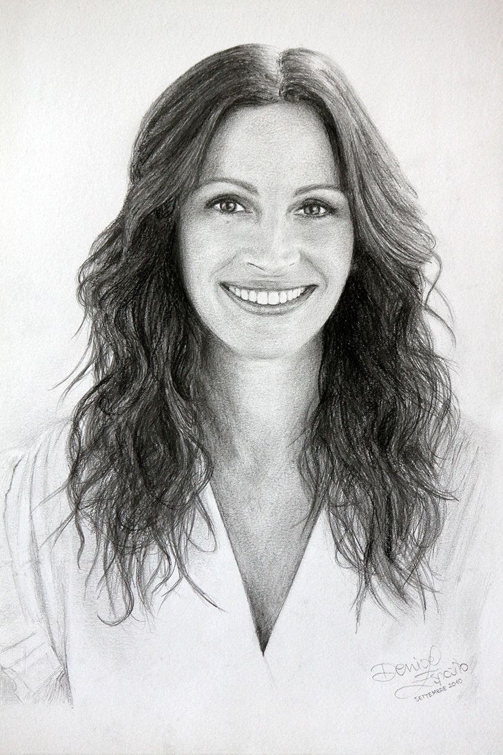 Julia roberts by deniseesposito on deviantart international caricatures sketches pencil drawings pencil portrait julia roberts
