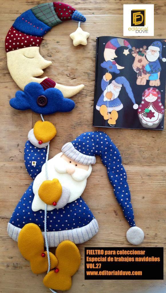 FIELTRO para coleccionar Especial de trabajos navideños Vol. 27 Cómprela en la Tienda de revistas: http://j.mp/R5ZHD7  www.editorialduve.com  #fieltro #navidad #manualidades