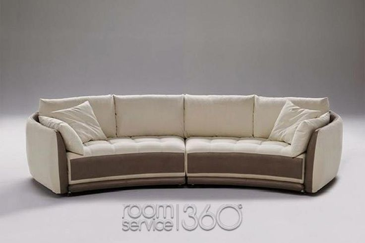 circular sectional sofa | planet contemporary italian leather