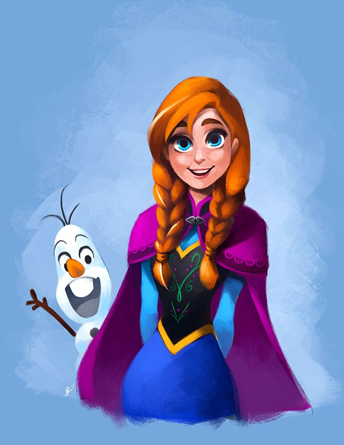 Anna and Olaf by ~thefenrir on deviantART
