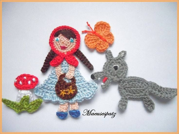 636 best Crochet Appliques Motifs and More for Children images on