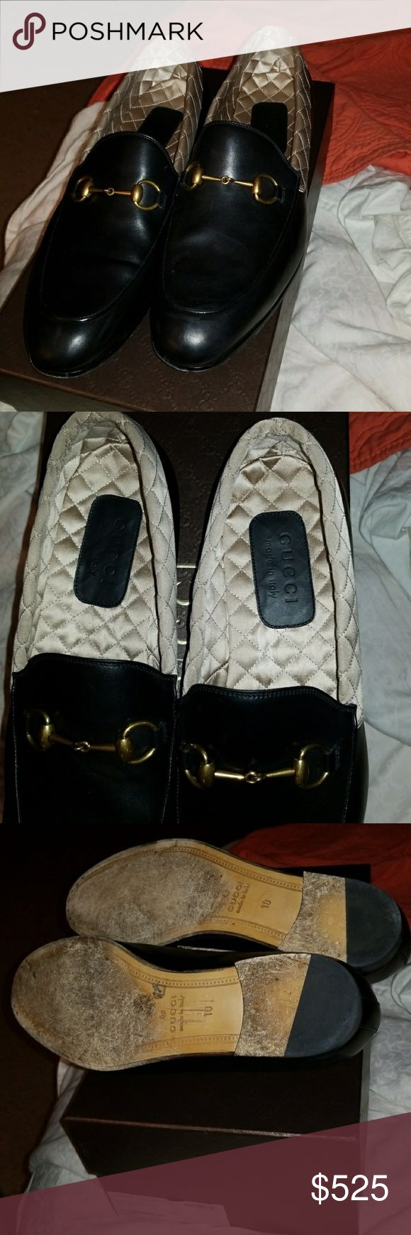 Men dress shoes Belt Glamour Raso Seta Nero/Cream Gucci Gucci Shoes Loafers & Slip-Ons