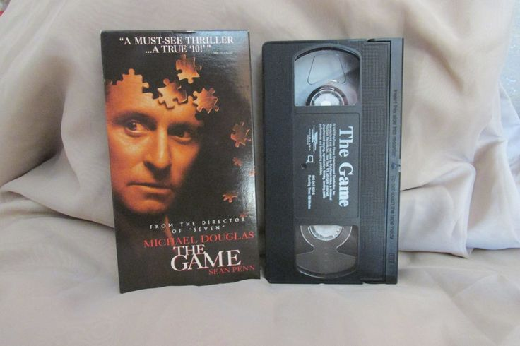 The Game VHS Thriller Movie Rated R 1998 Polygram Video Close Caption