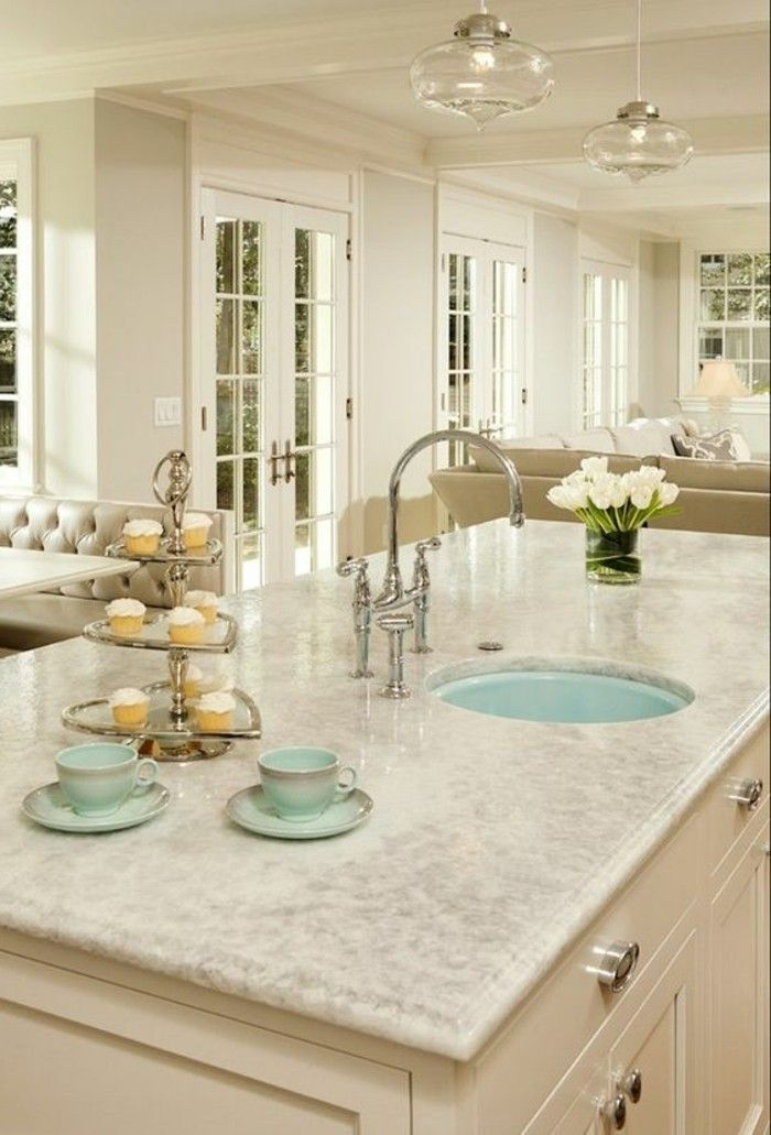 marmor arbeitsplatte fur kuche individuell