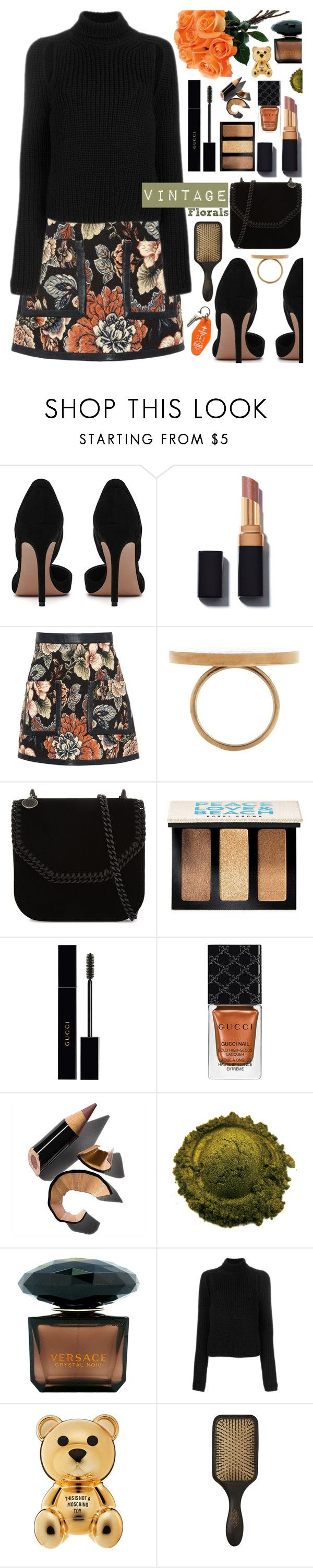 """""""Smell the Roses: Vintage Florals"""" by tinkabella222 ❤ liked on Polyvore featuring STELLA McCARTNEY, Bobbi Brown Cosmetics, Gucci, Versace, Calvin Klein 205W39NYC, Three Potato Four, vintage, StellaMcCartney, CalvinKlein and vintageflorals"""