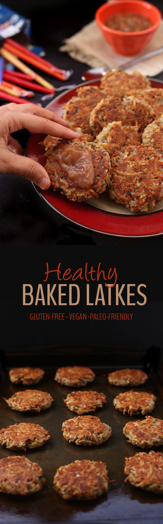 No need to spend hours frying and smelling up your house with these Easy and Healthy Baked Latkes. They're perfect for Hanukkah or a delicious dinner side recipe. You would never know they're gluten-free and vegan too!