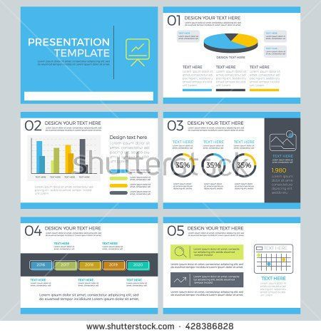 Presentation template concept of business and marketing, power point template, element design