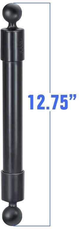 "RAP-BB-230-14U RAM Mounts 12.75"" Long Extension Pole w/1"" Diameter Ball On Each End"