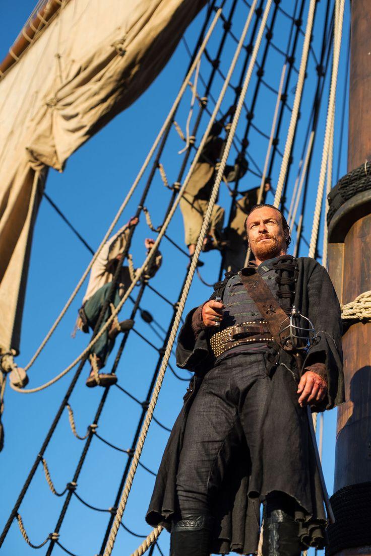 Black sails s3 pirate captain flint leather coat - Captain Flint Black Sails