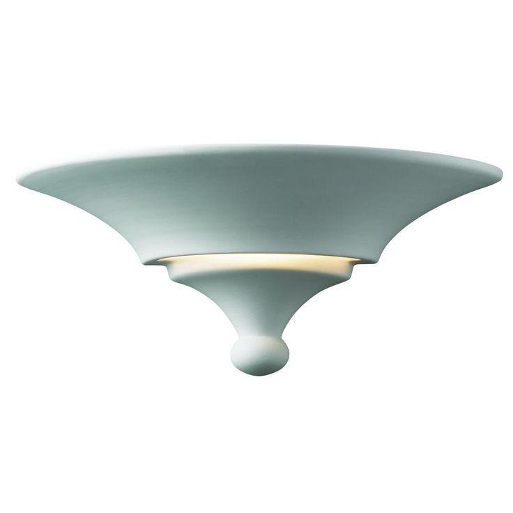 Leonidas 1-Light Paintable Ceramic Bisque Landis Sconce