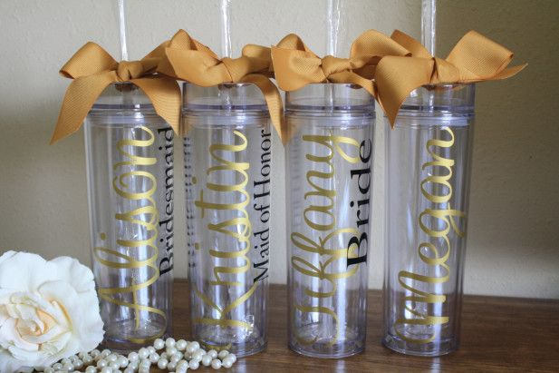 These custom tumblers from Etsy would make the perfect bridesmaid gifts!