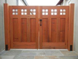 Redwood Driveway Gates