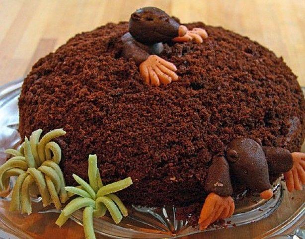 Maulwurfkuchen met Banaan, Chocolade en Slagroom