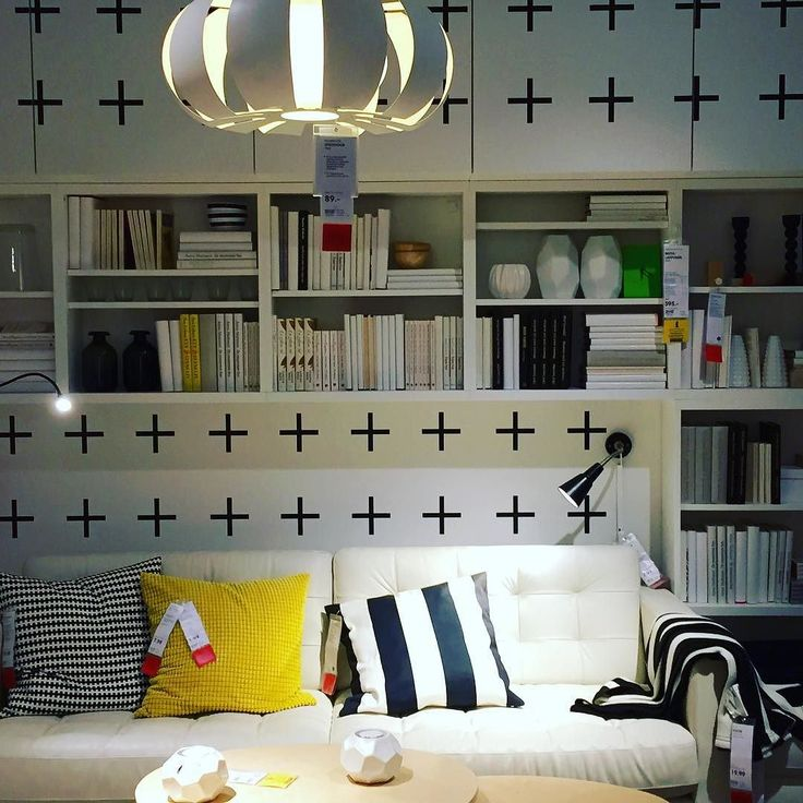 Shopping for ideas in Ikea Sindelfingen...    #FriArvie #shopping #Stuttgart #Sindelfingen #Ikea #ideas #decor #black #white #yellow #stripes #lounge #furniture #sofa #cushions