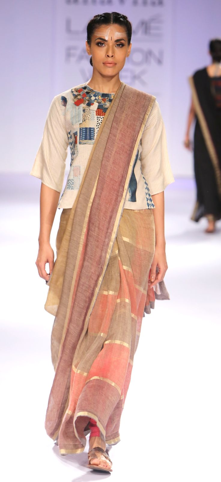 Festive linen Sari