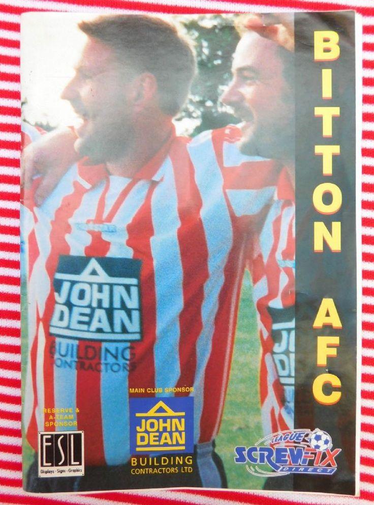 Old Football programme Bitton AFC v Torrington Screwfix Direct League 22 1
