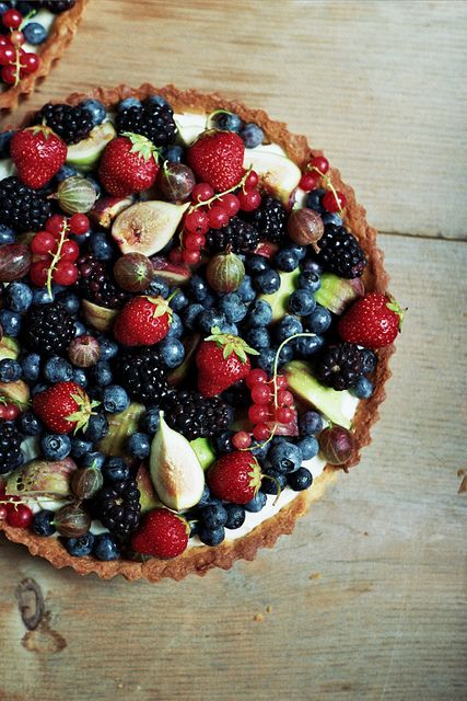 Mascarpone Cream Tart with Fresh Fruit #food #recipe