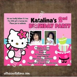 18 best hello kitty birthday invitations images on pinterest hello one of our favorite designs for hello kitty designs we can customized for one photo if needed stopboris Image collections