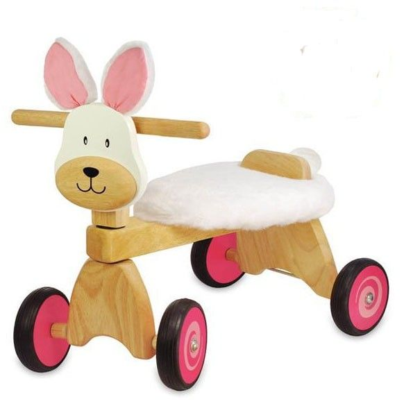 The super sturdy and comfortable I'm Toy Ride-On Bunny Rabbit Paddie Rider is perfect not only for Easter, but also for all year-around! Perfect for little riders, and the seat fabric is removable and washable - so Mum will love it too!
