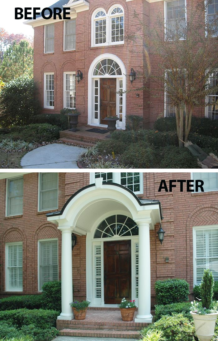 Traditional Exterior Front Porch Design Pictures Remodel Decor And Ideas Soooo Pretty: 21 Best Images About Rounded & Semi-circular Porticos On Pinterest
