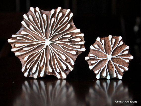 Tampon textile poterie timbre timbre bois par charancreations