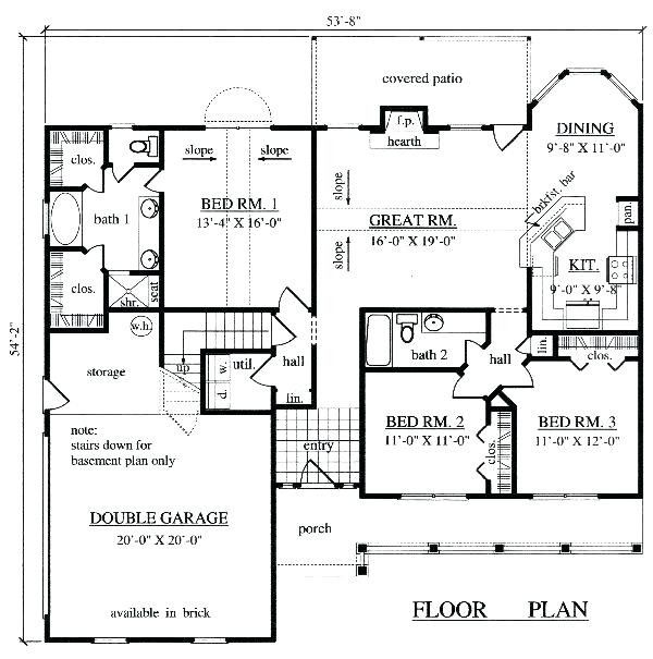 19 Fresh 1500 Square Foot House Plans One Story Images Open House Plans Ranch House Plans Open Floor House Plans