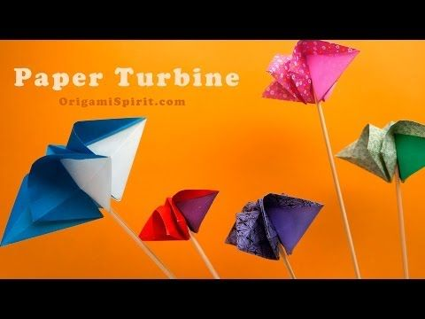 Origami Turbine -A Paper Spinner : : Super Molinete - YouTube top de la calesita