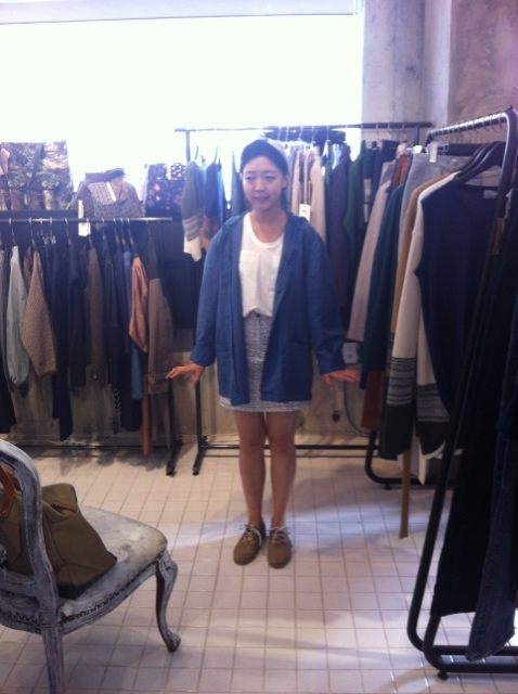 Staff Moon Outer, Shoes:YMC/Skirt:camo