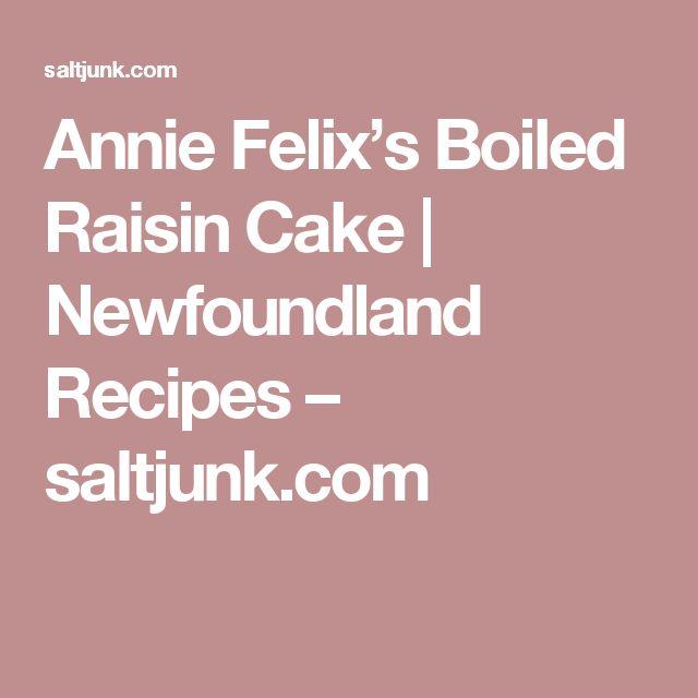 Boiled Raisin Cake Recipe Best
