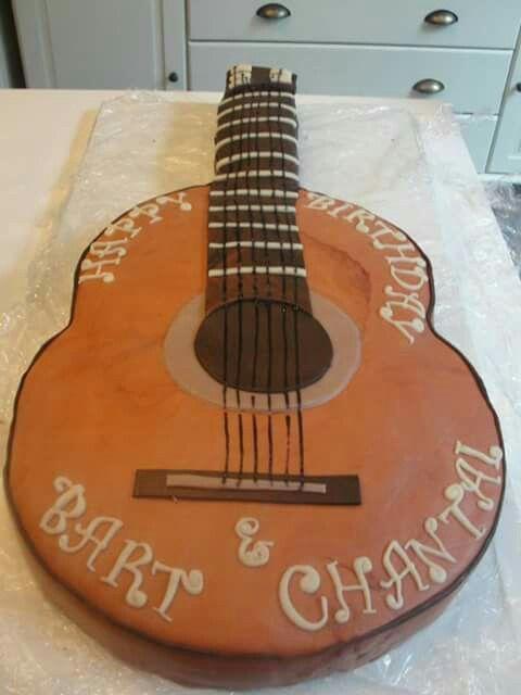 Marsepein taart gitaar