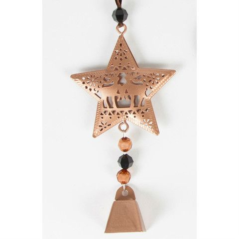 Copper Star Christmas Tree Ornament with Bells – Mr Panda's Emporium
