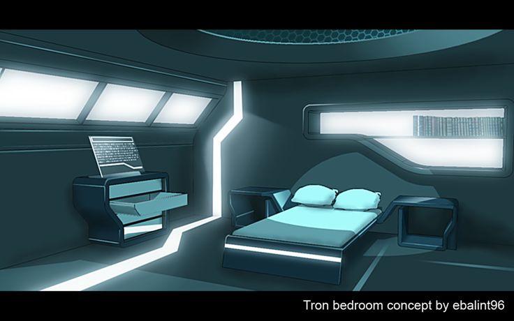 Gallery for sci fi bedroom my future bedroom for Cyberpunk interior design