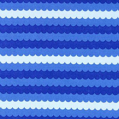 Cotton Maritime Wave - Baumwolle - blau