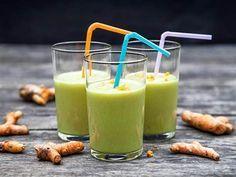 Grön smoothie med gurkmeja