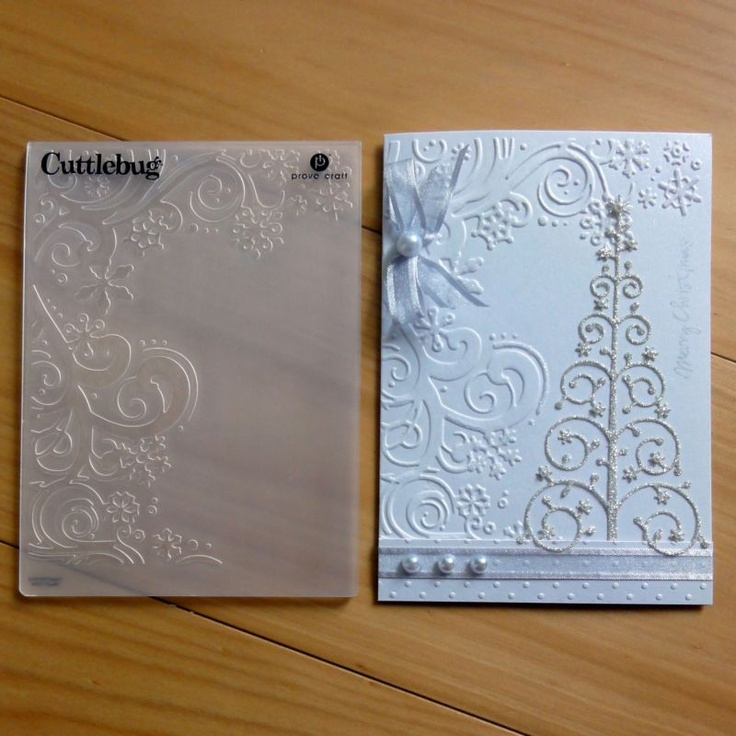 CUTTLEBUG EMBOSSING FOLDER Snowflake Corner Scrolls For